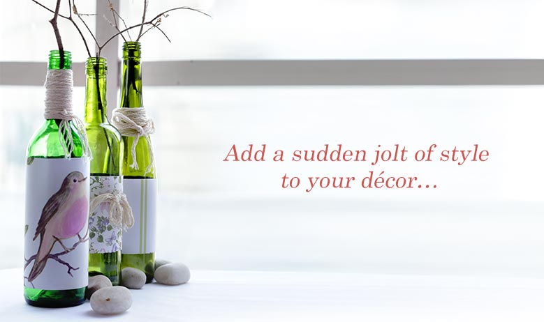 Decorate With Old Glass Bottles